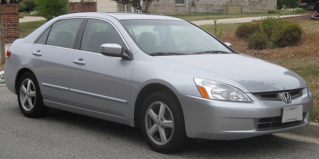 2003 Silver Honda Accord parked street-side