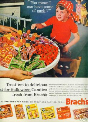 English: Advertisement for Brach's candies