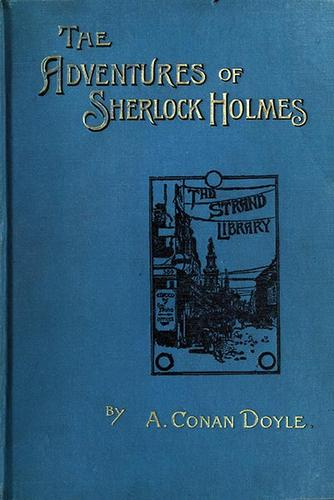 Cover of The Adventures of Sherlock Holmes, First edition (Wikimedia Commons)