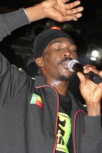 Reggae artist Anthony B performing at Studio 7...