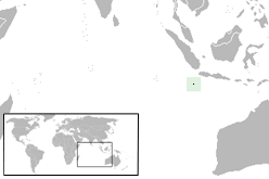 The location of Christmas Island