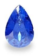 Geschliffener blauer Saphir