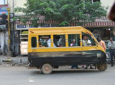 picture of a share autorickshaw in chennai