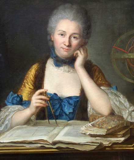 Painted portrait of Émilie du Châtelet