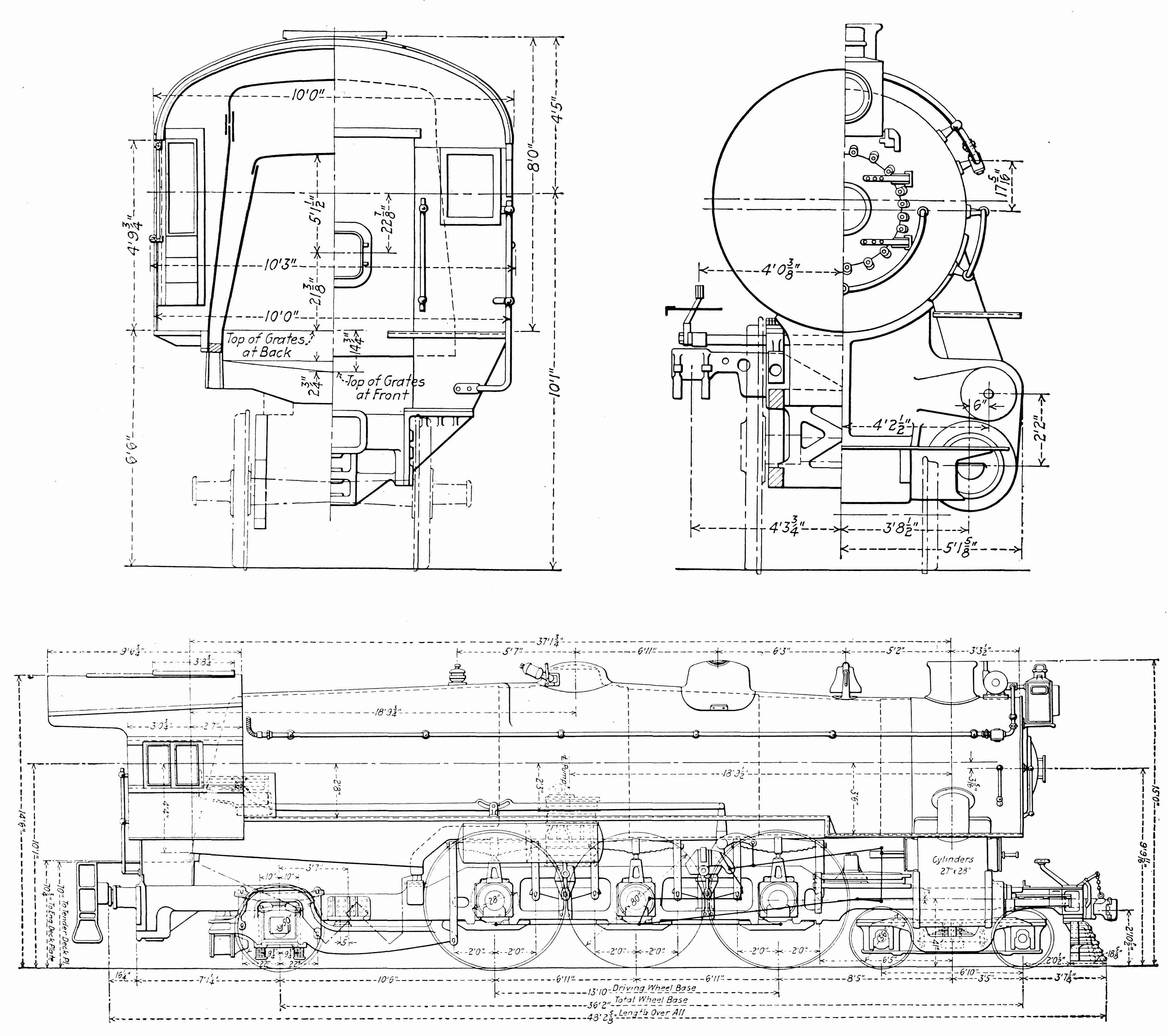 Prr K4s Drawing