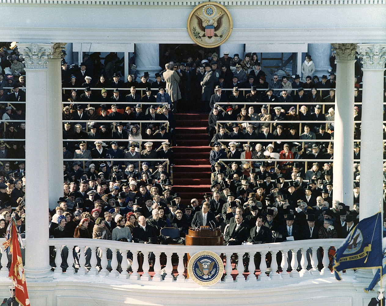 President Kennedy Inaugural Address Color