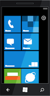 English: drawing of a Windows Phone 7 device, ...