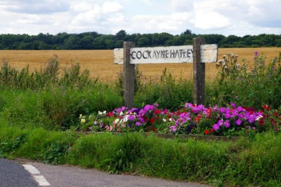 File:Cockayne Hatley village sign - geograph.org.uk - 934057.jpg