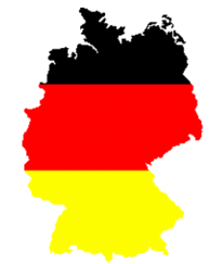 Germany (FRG) Map Flag