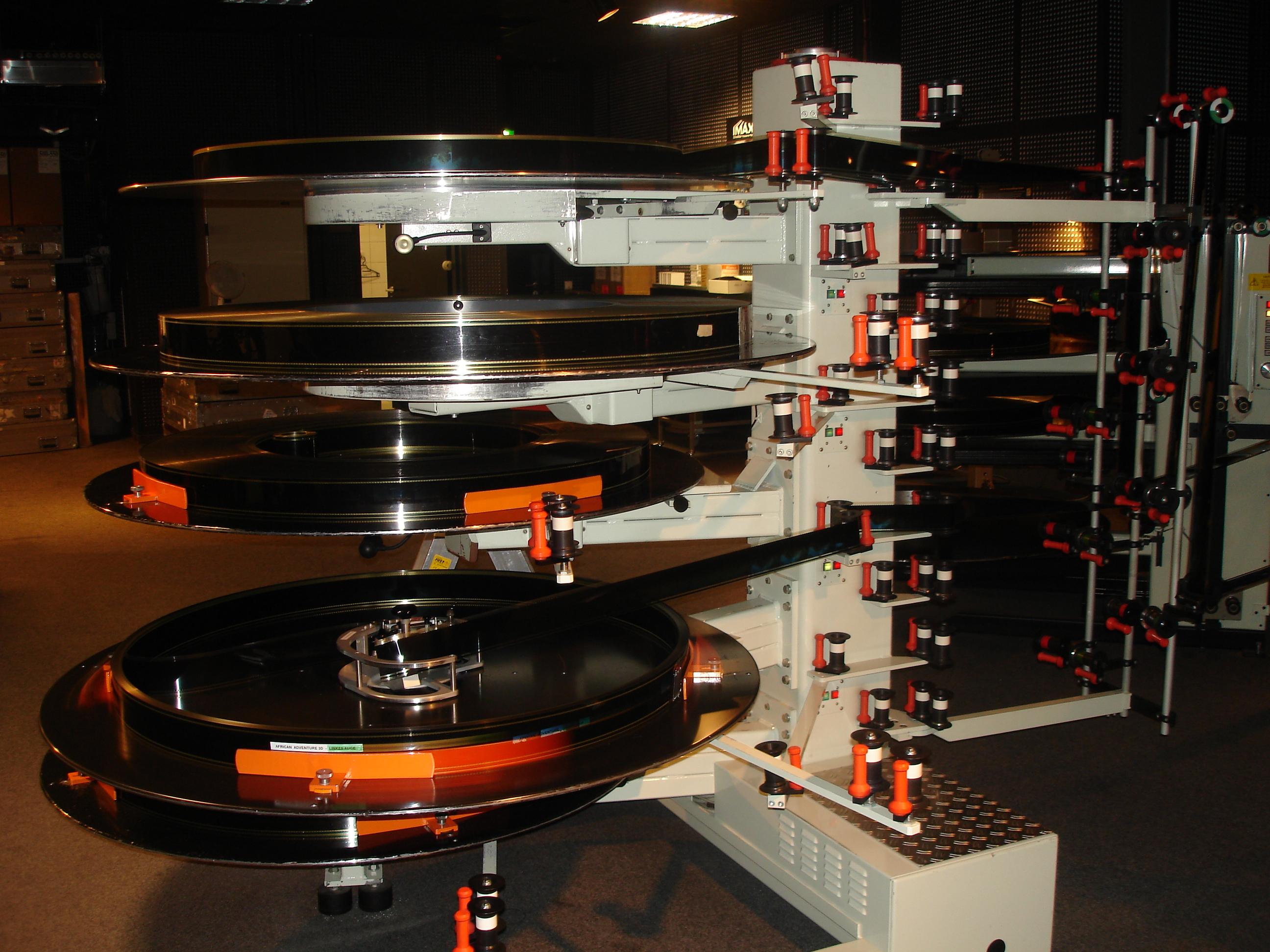 Deutsch: Filmteller für 70mm-Film in einem IMA...
