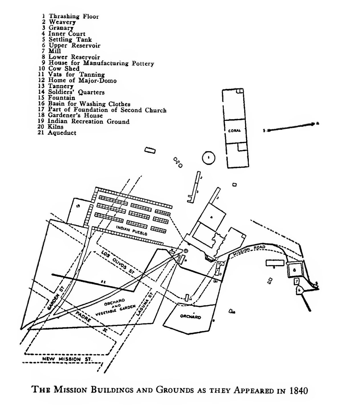 File Map Showing The Arrangement Of The Mission Santa