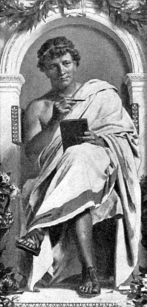 """Ovid by Anton von Werner. """"Bibliothek des..."""