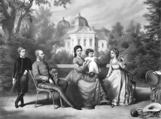 The Austrian Imperial family per Wikimedia