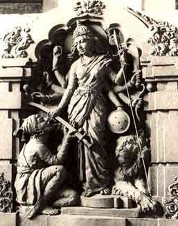 According to legend, goddess Bhavani gave a di...