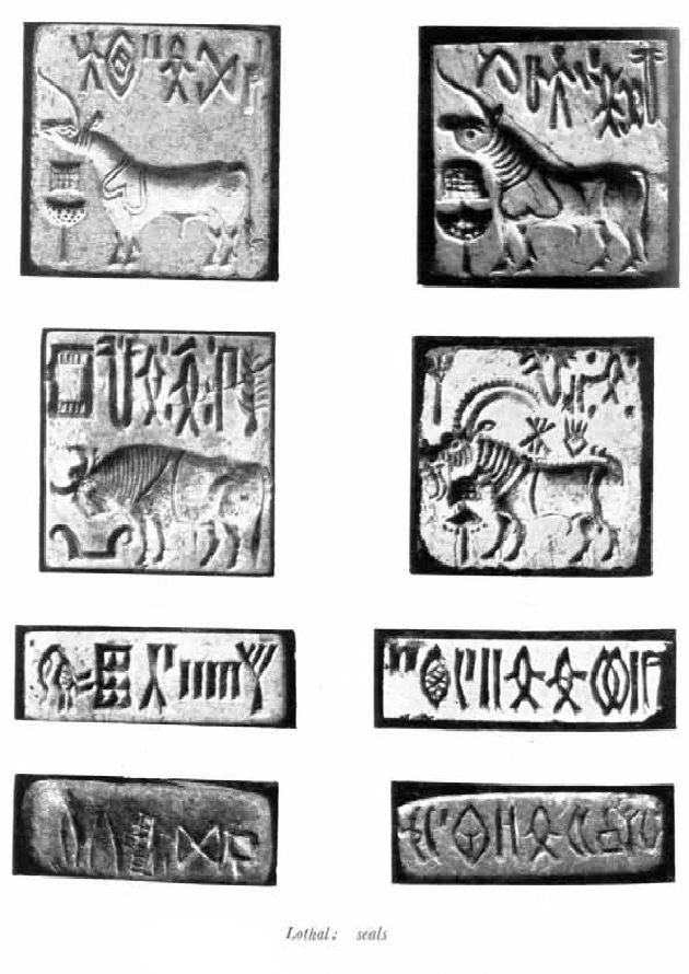 Seals representing the swastika from the Indus Valley Civilization dated 3000-1500 BC