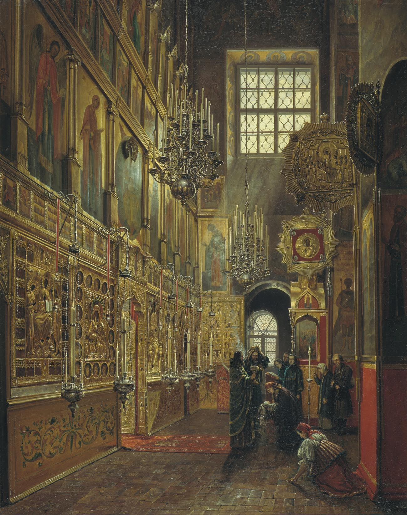 Stepan Shukhvostov (1821-1908). Church of St. Alexis in the Chudov Monastery of the Moscow Kremlin (1866)