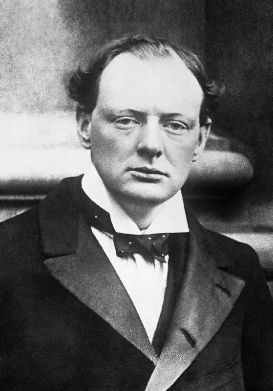Winston Churchill in 1904.