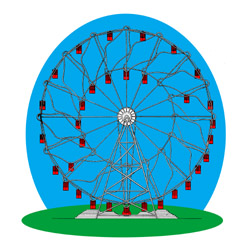 Hermann Eccentric Ferris Wheel with sliding ca...