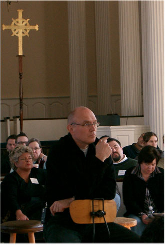 Miroslav Volf, Yale Theological Conversation, Yale Divinity School, February 2006; Photograph: Virgil Vaduva