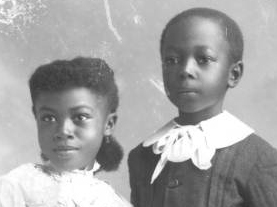 English: Unidentified African-American childre...