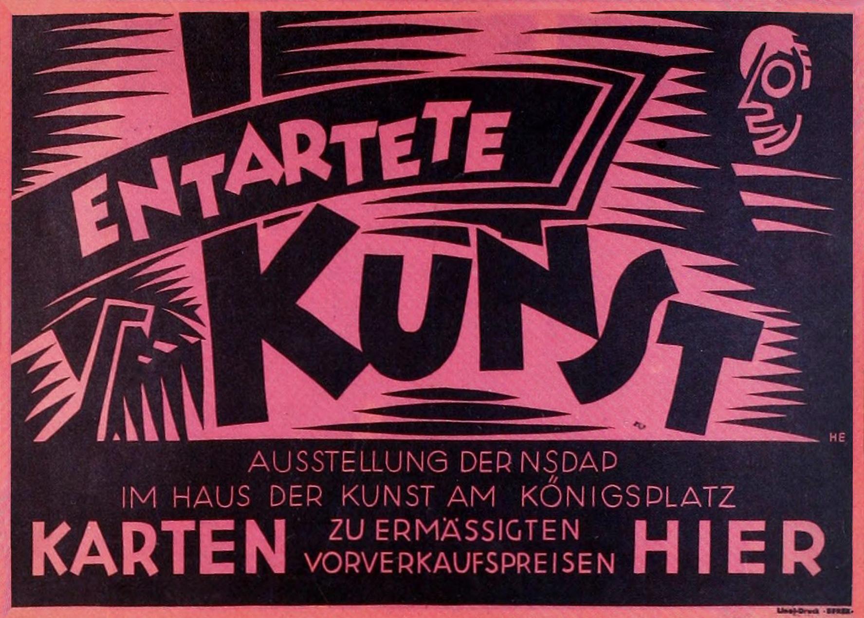 Entartete Kunst Exhibit Poster, 1938