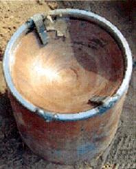 Improvised Explosive Device in Iraq. The conca...