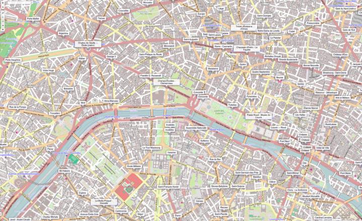 mapa železničních stanic SNCF