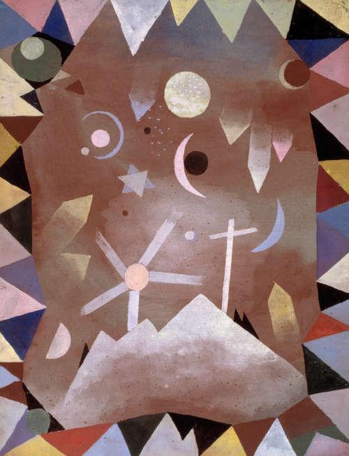 Über Bergeshöhe by Paul Klee, 1917