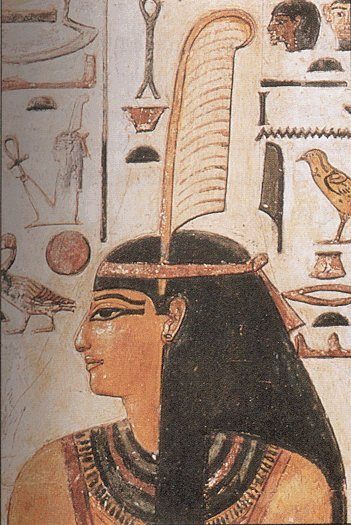 Maat wearing feather of truth