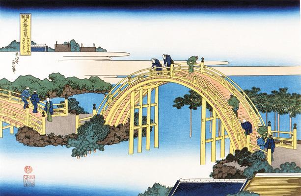 Ukiyo-e of Kameido Tenjin Shrine