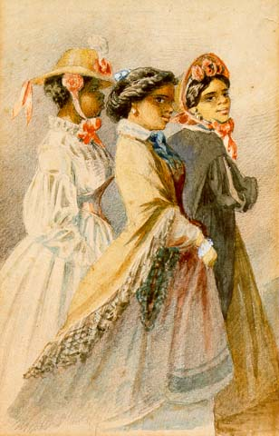 File:Creole women of color out taking the air, from a watercolor series by Édouard Marquis, New Orleans, 1867.jpg