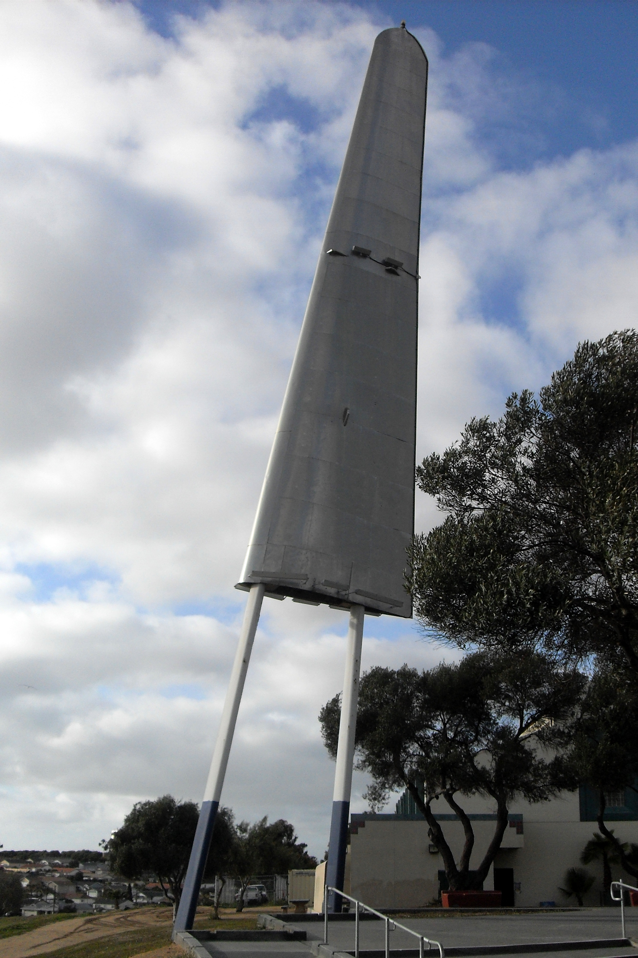 Silver Wing monument at Montgomery-Waller Recreation Center in Otay Mesa, San Diego, California