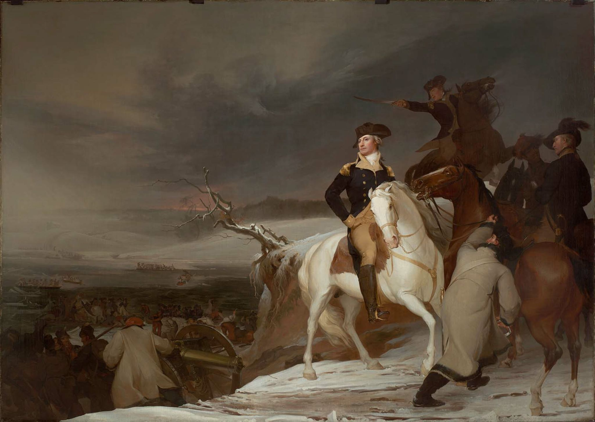 Passage of the Delaware, by Thomas Sully (1819). Now in the Boston Museum of Fine Arts.
