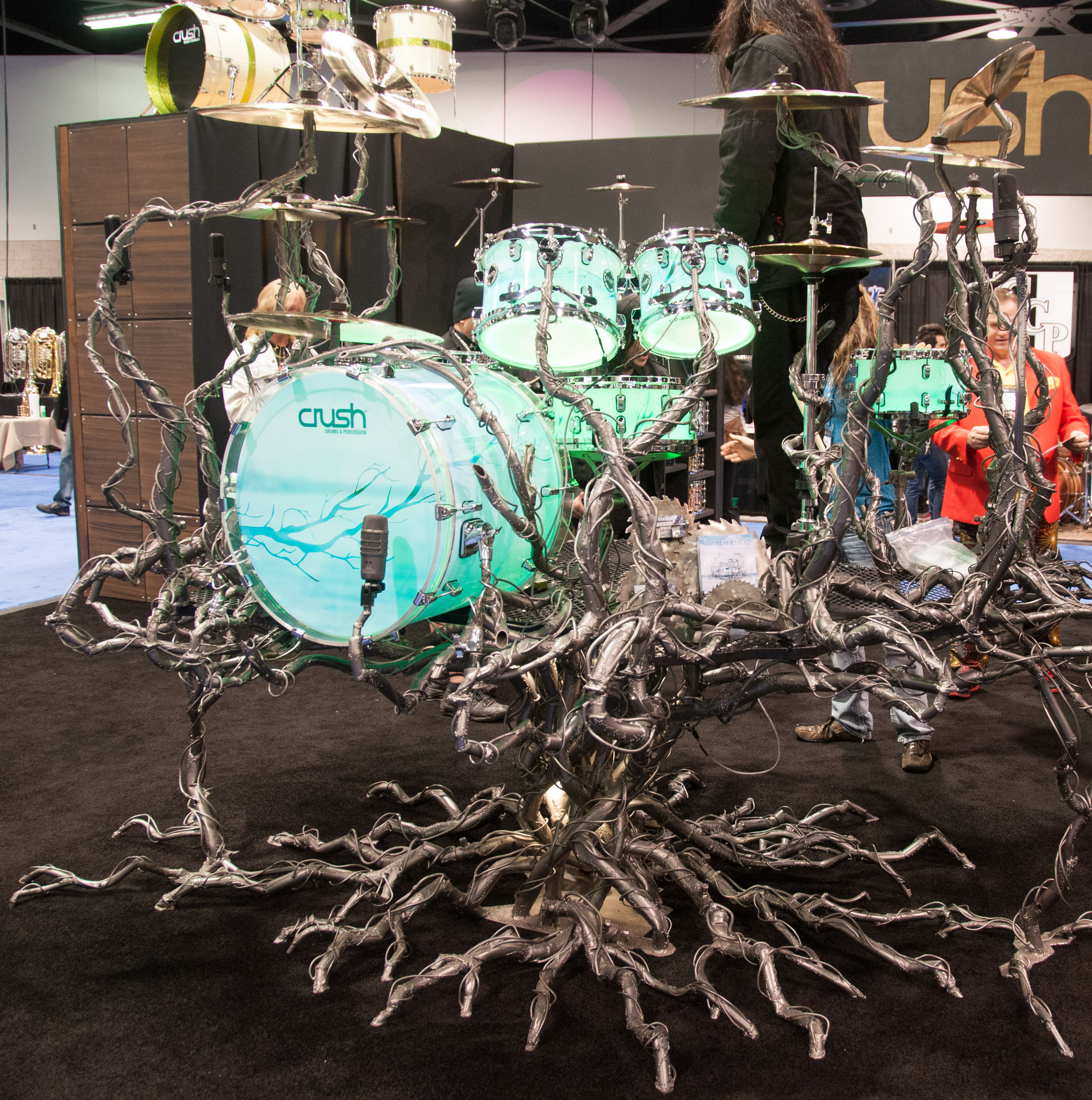 FileCrush Drums Amp Percussion Inc Booth Crazy Drum