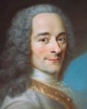 D'après Maurice Quentin de La Tour, Portrait de Voltaire, détail du visage (château de Ferney)