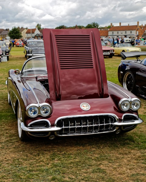 1958 chevrolet cars » File 1958 Chevrolet Corvette C1 5700cc at Hatfield Heath Festival     File 1958 Chevrolet Corvette C1 5700cc at Hatfield Heath Festival 2017    front jpg