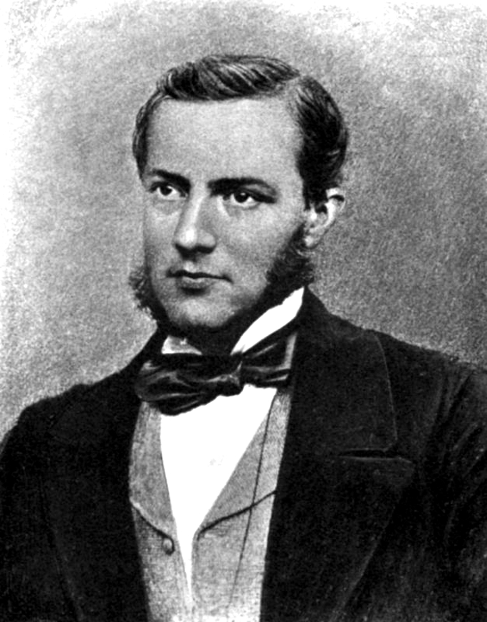 English: Photograph of Max Muller as a young man