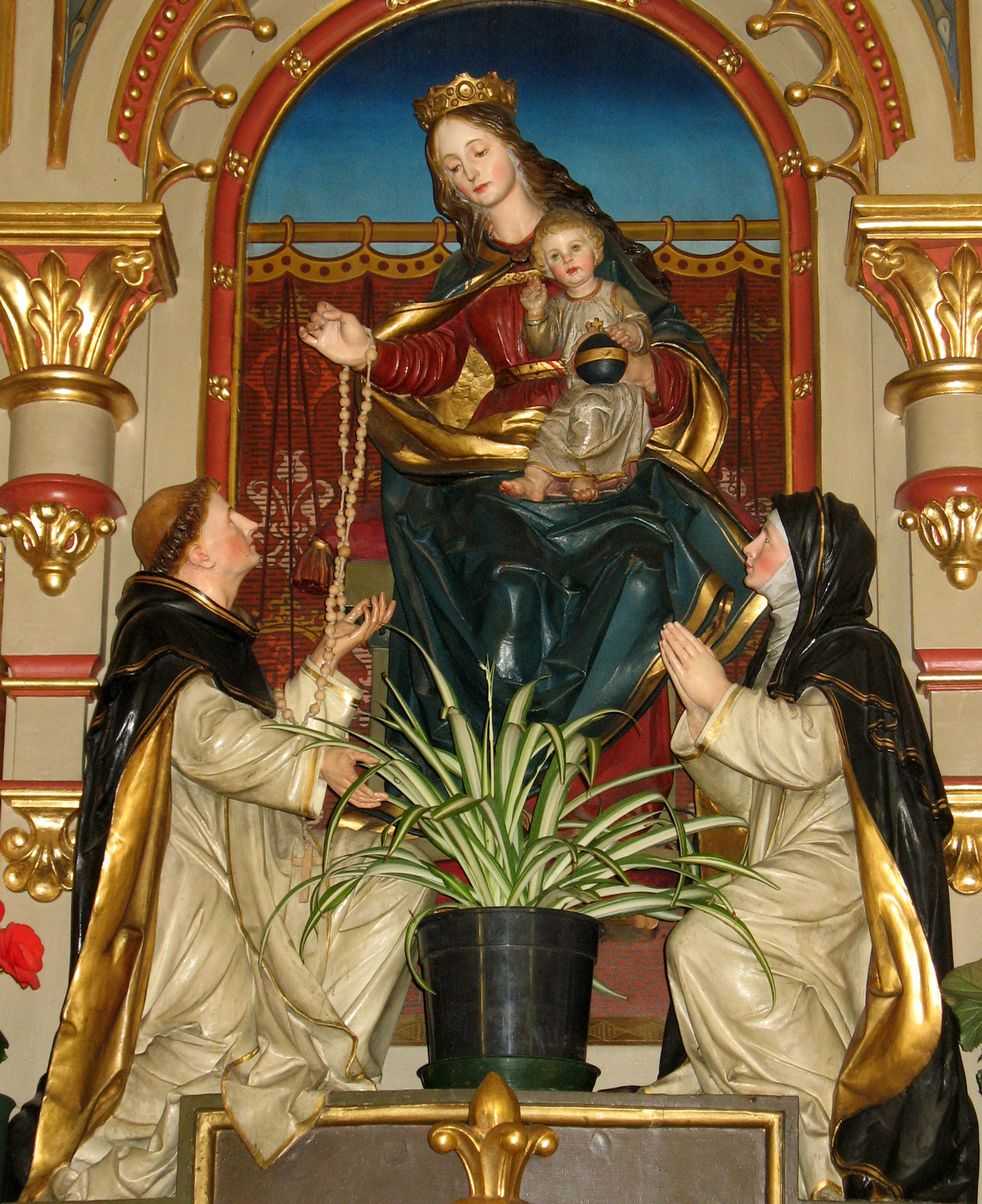 Rosary Madonna by the Tyrolean sculptor Franz ...