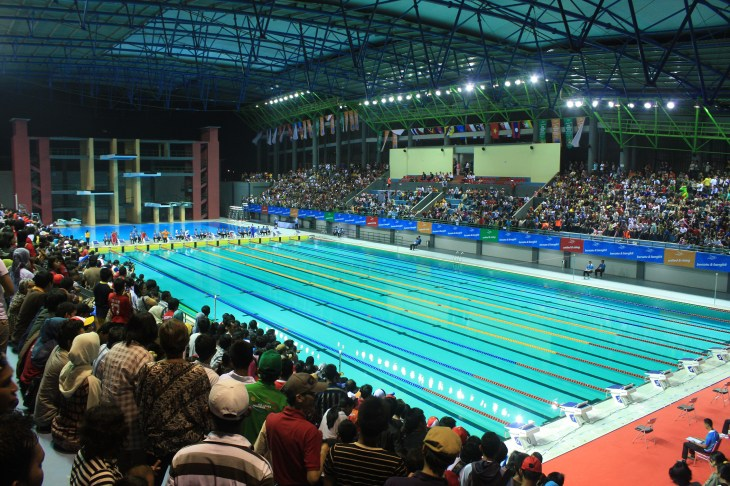 File:Jakabaring Aquatic Center, SEA Games 2011 Palembang 2 ...