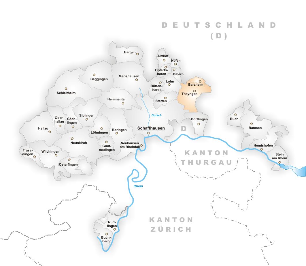 File Karte Gemeinden Des Kantons Schaffhausen