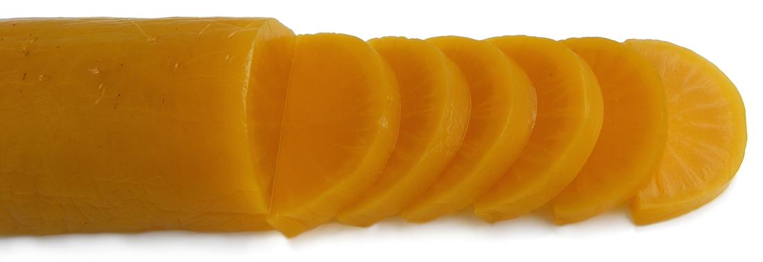 Takuan or takuwan, Japanese yellow pickled dai...