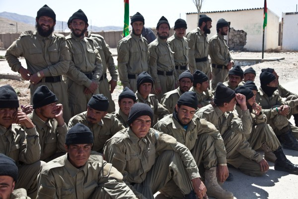 File:Afghan Local Police (ALP) officers take a break from ...