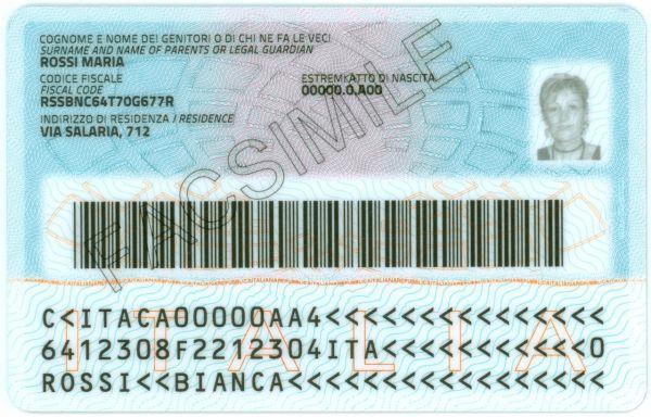 Carta Didentità Elettronica Italiana Wikipedia