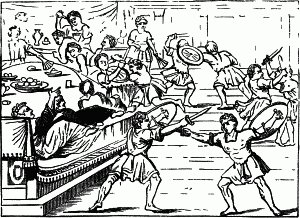 English: Gladiatorial Shows at a Banquet