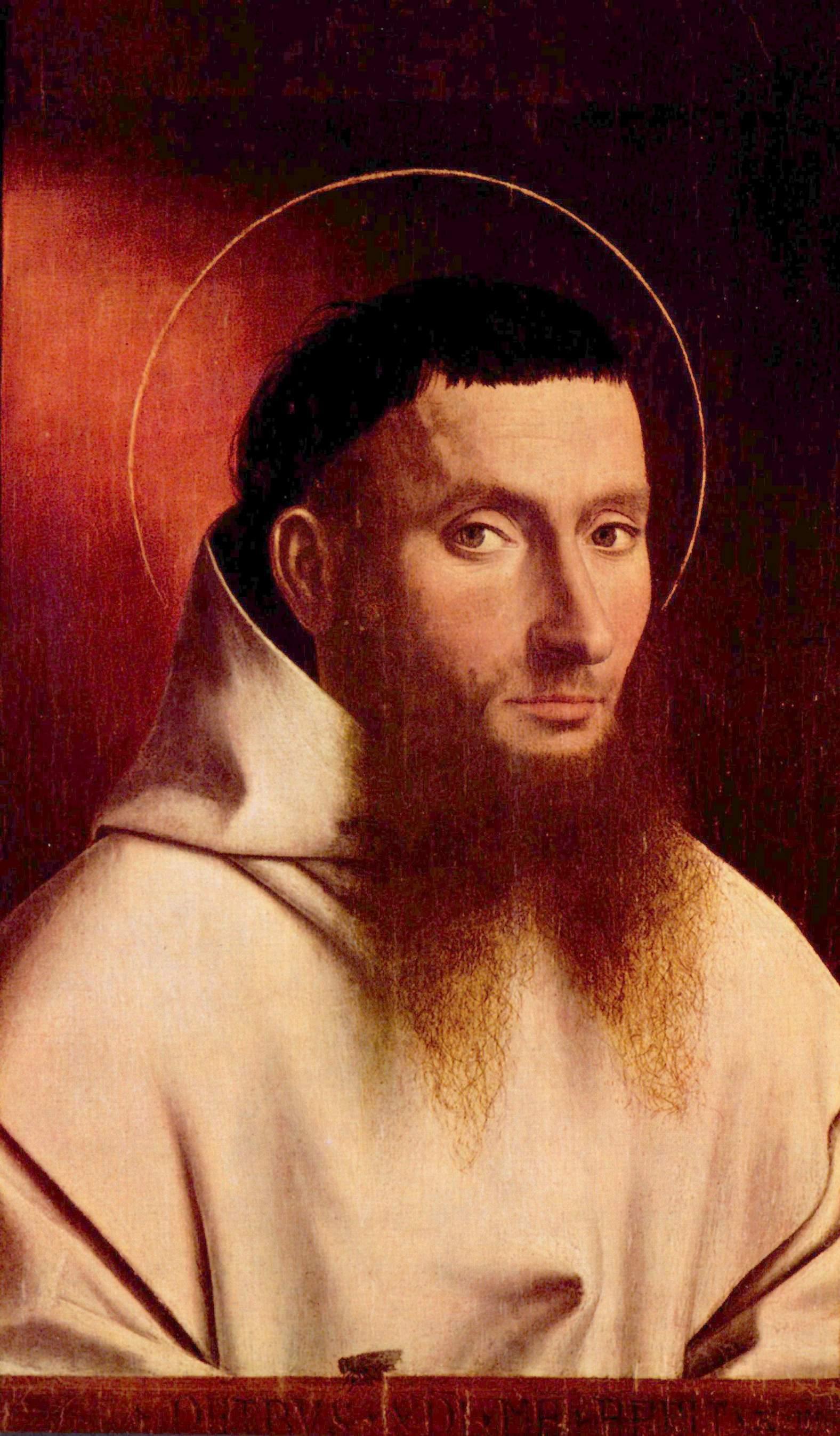 Petrus Christus, Portrait de Chartreux, 1446.