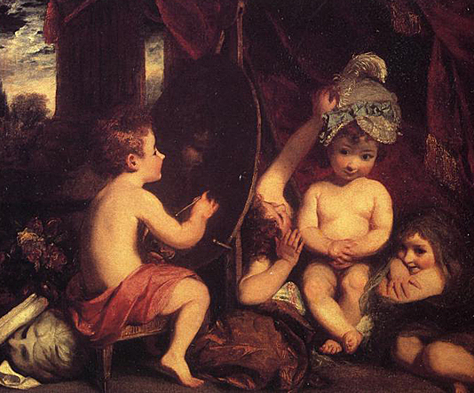 The infant academy by Joshua Reynolds