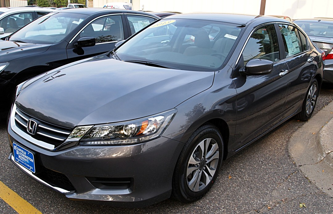 2013 Silver Honda Accord parked