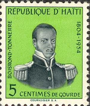 Timbre poste d'Haïti commémorant le 150e anniv...
