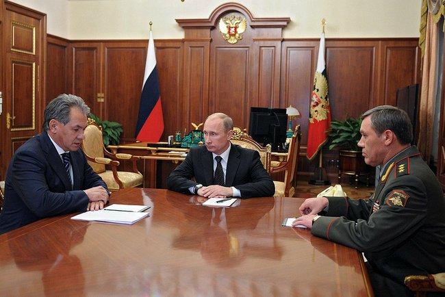 File:Sergey Shoigu, Vladimir Putin, Valery Gerasimov (2012-11-09).jpeg