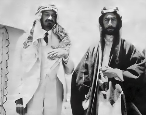 Feisal-Weizmann Agreement. They met in Syria in 1918.